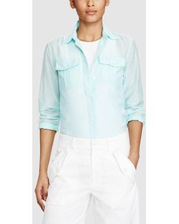 Long-sleeve Shirt With Breast Pockets