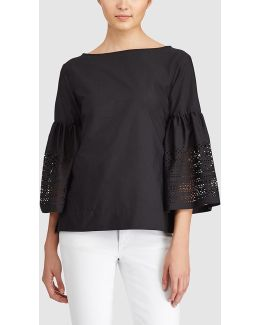 Laser-cut Cotton-blend Shirt