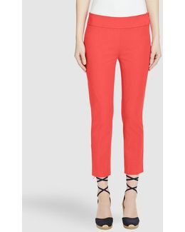 Coral Cropped Trousers