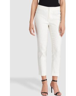 Pinstriped Skinny Trousers