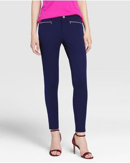 Navy Blue Skinny Trousers