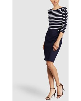 Navy Blue Straight Cut Skirt