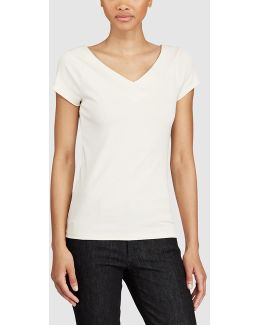White V-neck T-shirt