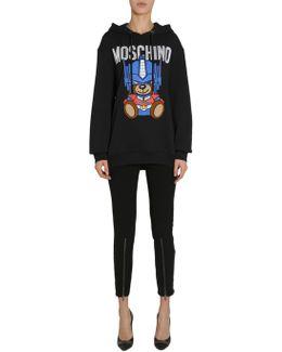 Hodded Sweatshirt With Teddy Bear Transformer Intarsia