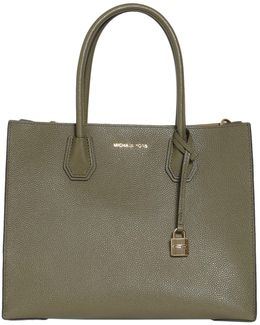 Large Mercer Textured Leather Tote