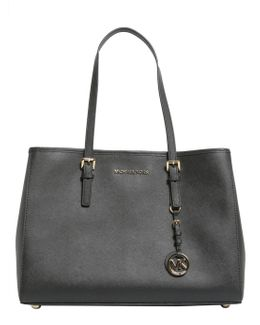 Large Jet Set Travel Saffiano Leather Tote