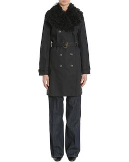 Delphine Trench Coat With Shearling Lapel