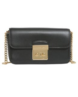 Sloan Editor Leather Clutch With Chain