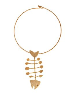 Fish Statement Brass Collar
