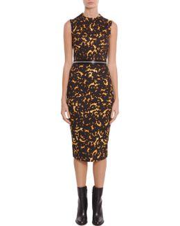 Animalier Print Sheath Dress