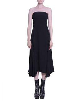 Off-the-shoulder Flared Dress