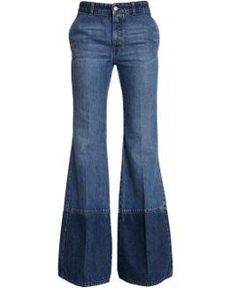 Délavé Cotton Flared Jeans