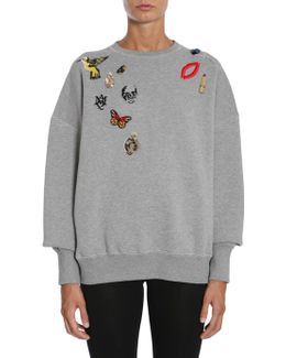 Obsession Embellished Cotton Sweatshirt