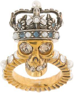 King Skull Brass Ring