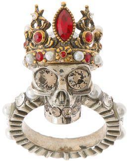 Queen Skull Brass Ring