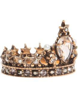 Brass Crown Ring