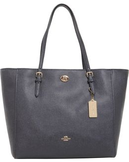 Turnlock Tote In Pebble Leather