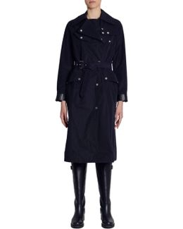 Trench Coat With Eco Leather Details