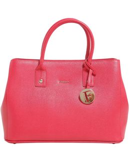Linda Small Saffiano Leather Tote
