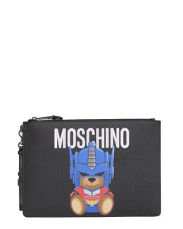 "Small ""teddy Transformer"" Leather Pouch"