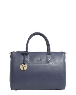 Medium Linda Saffiano Leather Bag