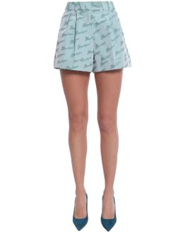 Boutique Print Shorts With Darts