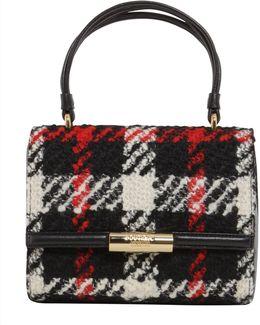 Tartan Wool Leather Bag