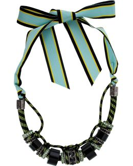 Polly Necklace With Ribbon Closure