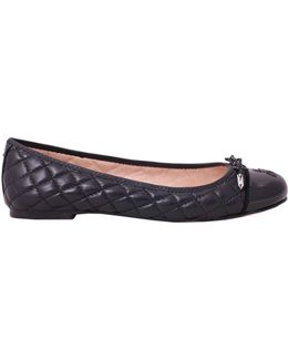 Quilted Leather Becka Flat
