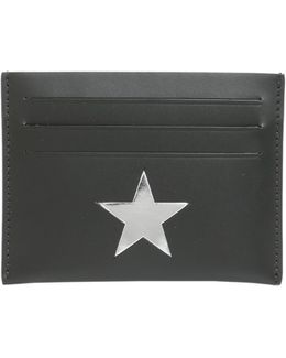 Leather Card Holder With Mirrored Star
