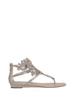 Sandalo In Ayers Con Tomaia Gioiello