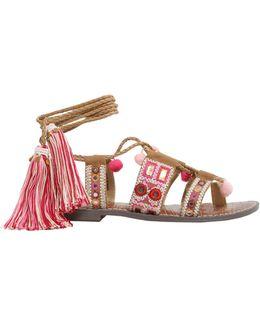 Gretchen Gladiator Canvas Sandals