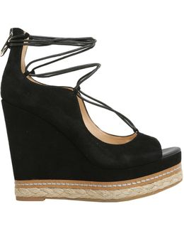 Harriet Peep Toe Suede Wedges