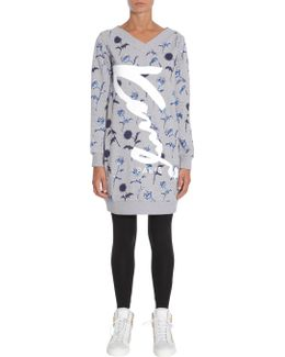 Maxi Sweatshirt With V Neck