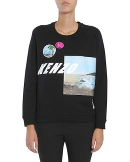 Cotton Sweatshirt With Patches