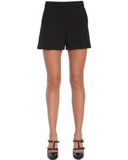 Wool Crêpe Shorts