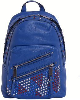 Leather Backpack With Crystales