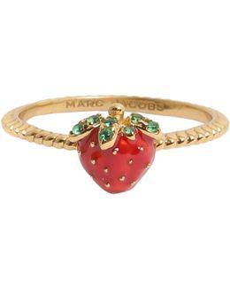 Anello Strawberry Smaltato
