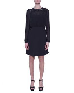 Short Dress With Lace Details