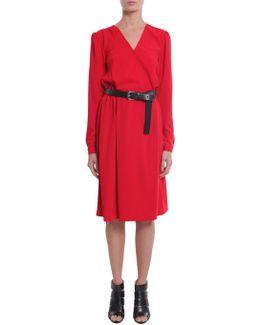 Crêpe Dress With Belt