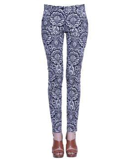 Miranda Trousers In Damask Cotton