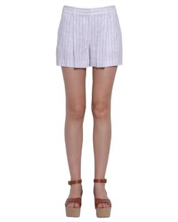 Pin Striped Linen Shorts