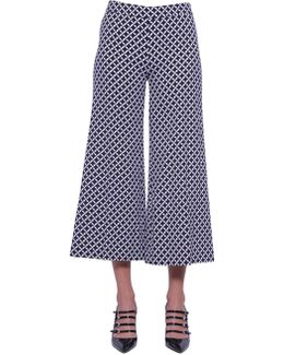 """bermont"" Print Culotte Trousers"