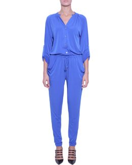 Stretch Jumpsuit With Drawstring Fastening