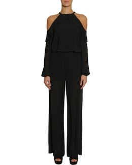 Halter Neck Jumpsuit With Cut Out Details