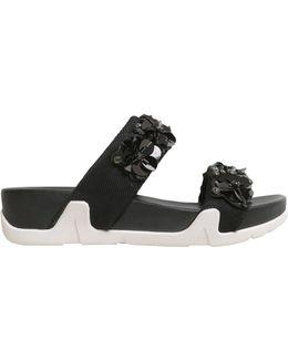 Double Velcro Slide Oman Flowers Sandals