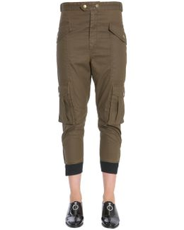 "Coated Cotton ""dexter"" Trousers"