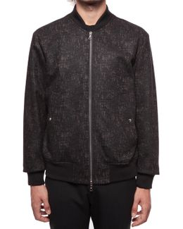 Zipped Bomber With Jacquard Texture