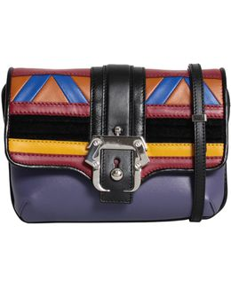 Petite Sylvie Leather Bag With Patchwork