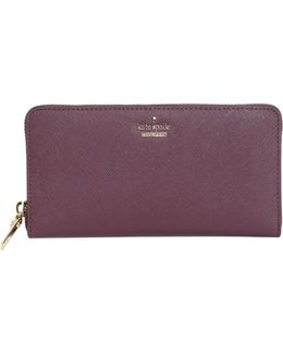 Cameron Street Lacey Zip Around Wallet In Saffiano Leather